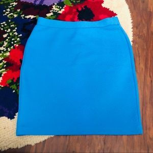 NWT LOFT Blue Textured Stretch Pencil Skirt